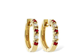 A046-48843: EARRINGS .17 RUBY .26 TGW