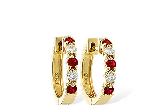 B046-48843: EARRINGS .33 RUBY .52 TGW