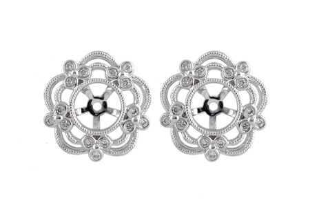C231-04361: EARRING JACKETS .16 TW (FOR 0.75-1.50 CT TW STUDS)