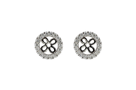 C232-86107: EARRING JACKETS .24 TW (FOR 0.75-1.00 CT TW STUDS)