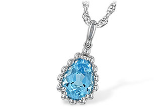 C234-67988: NECKLACE 1.55 CT BLUE TOPAZ