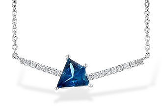 D235-61561: NECK .87 LONDON BLUE TOPAZ .95 TGW