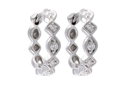 E046-46097: EARRINGS .22 TW