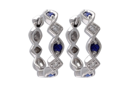 F046-46097: EARRINGS .20 SAPP .25 TGW
