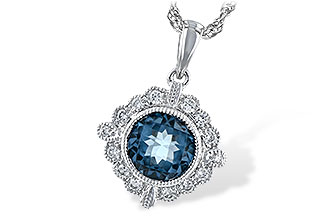 G234-67052: NECK .98 BLUE TOPAZ 1.10 TGW