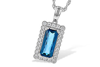 G235-62470: NECK 1.55 LONDON BLUE TOPAZ 1.70 TGW