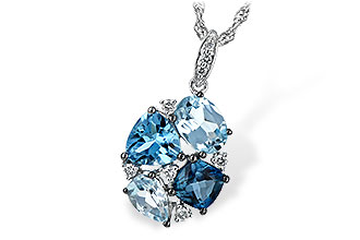 H234-65188: NECK 2.60 BLUE TOPAZ 2.70 TGW