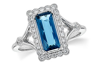 H235-60715: LDS RG 1.58 LONDON BLUE TOPAZ 1.75 TGW