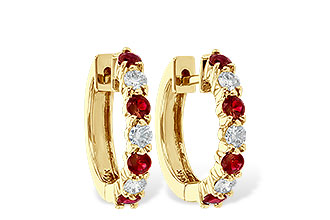 L046-48842: EARRINGS .64 RUBY 1.05 TGW