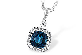 M234-65188: NECK 1.63 LONDON BLUE TOPAZ 1.80 TGW