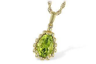M234-67988: NECKLACE 1.30 CT PERIDOT